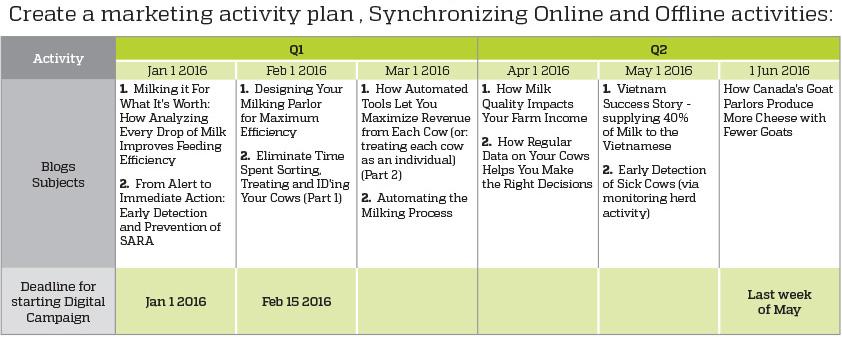 marketing activity plan