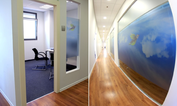 pentalum office wall